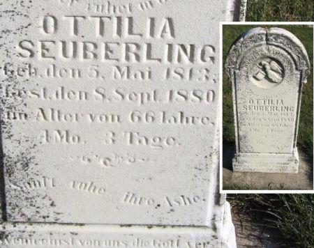 SEUBERLING, OTTILIA - Mitchell County, Iowa   OTTILIA SEUBERLING