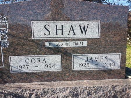 SHAW, CORA - Mitchell County, Iowa | CORA SHAW