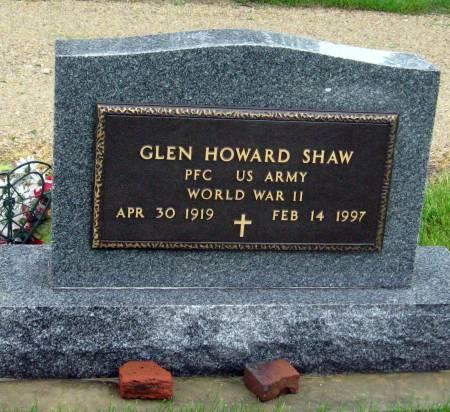 SHAW, GLEN HOWARD - Mitchell County, Iowa   GLEN HOWARD SHAW