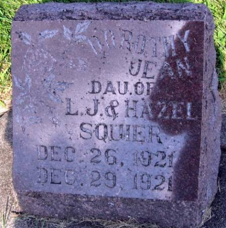 SQUIER, DOROTHY JEAN - Mitchell County, Iowa   DOROTHY JEAN SQUIER