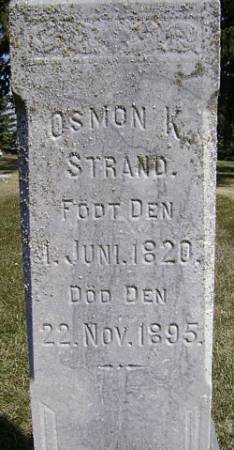 STRAND, OSMON K. - Mitchell County, Iowa   OSMON K. STRAND