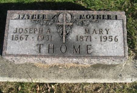 THOME, MARY - Mitchell County, Iowa | MARY THOME