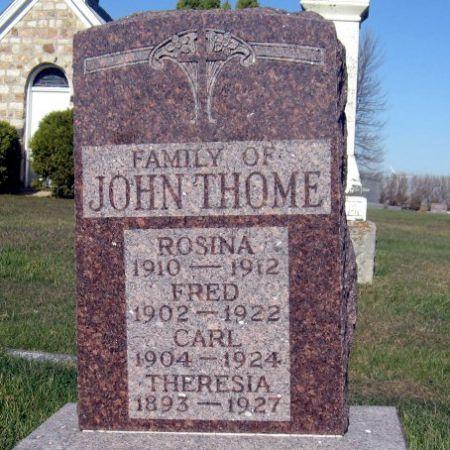 THOME, THERESIA - Mitchell County, Iowa | THERESIA THOME