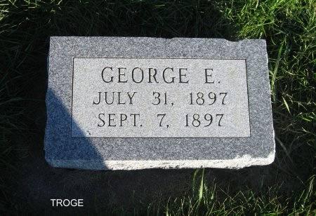 TROGE, GEORGE (HEADSTONE) - Mitchell County, Iowa | GEORGE (HEADSTONE) TROGE