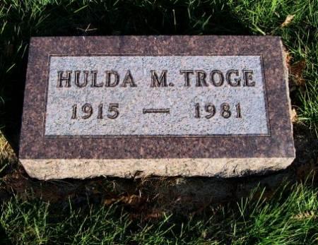 TROGE, HULDA M. - Mitchell County, Iowa   HULDA M. TROGE