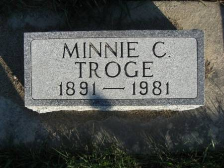 HARTWIG TROGE, MINNIE C. - Mitchell County, Iowa | MINNIE C. HARTWIG TROGE