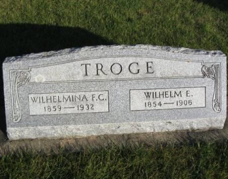 HELLER TROGE, WILHELMINA F. C. - Mitchell County, Iowa | WILHELMINA F. C. HELLER TROGE