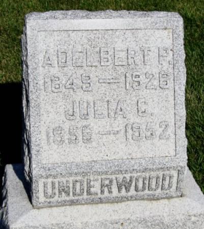 UNDERWOOD, ADELBERT P. - Mitchell County, Iowa | ADELBERT P. UNDERWOOD