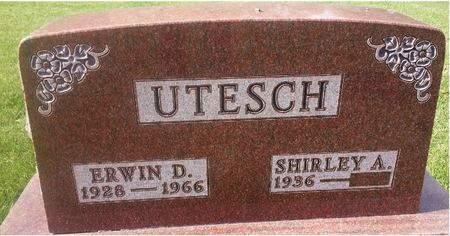 UTESCH, ERWIN D. - Mitchell County, Iowa   ERWIN D. UTESCH