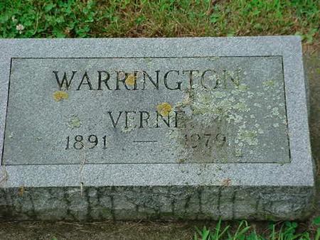 WARRINGTON, VERNE - Mitchell County, Iowa | VERNE WARRINGTON