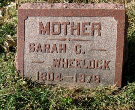 WHEELOCK, SARAH G. - Mitchell County, Iowa   SARAH G. WHEELOCK