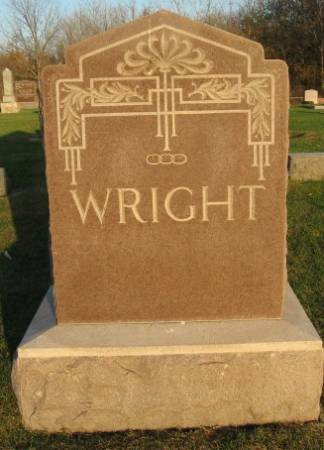 WRIGHT, GEORGE (FAMILY STONE) - Mitchell County, Iowa | GEORGE (FAMILY STONE) WRIGHT
