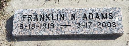 ADAMS, FRANKLIN N. - Monona County, Iowa   FRANKLIN N. ADAMS