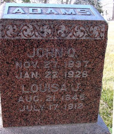 ADAMS, JOHN QUINCY - Monona County, Iowa | JOHN QUINCY ADAMS