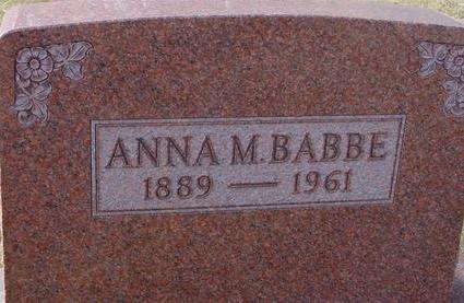 BABBE, ANNA M. - Monona County, Iowa   ANNA M. BABBE