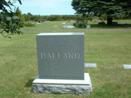 BALLARD, FAMILY STONE - Monona County, Iowa   FAMILY STONE BALLARD