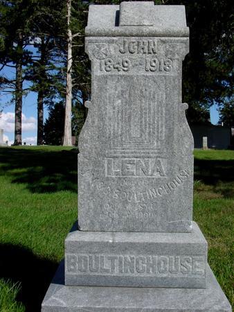 BOULTINGHOUSE, JOHN & LENA - Monona County, Iowa   JOHN & LENA BOULTINGHOUSE