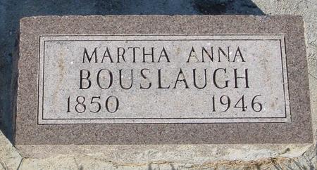 BOUSLAUGH, MARTHA ANN - Monona County, Iowa   MARTHA ANN BOUSLAUGH