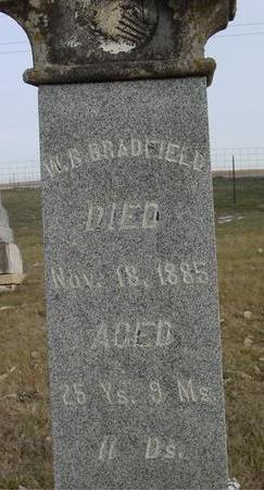 BRADFIELD, W. B. - Monona County, Iowa   W. B. BRADFIELD