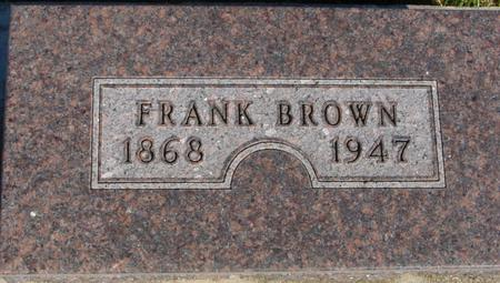 BROWN, FRANK - Monona County, Iowa   FRANK BROWN