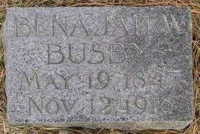 BUSBY, BENAJAH - Monona County, Iowa   BENAJAH BUSBY