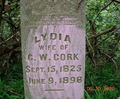 CORK, LYDIA - Monona County, Iowa | LYDIA CORK