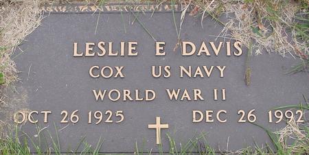 DAVIS, LESLIE E. - Monona County, Iowa   LESLIE E. DAVIS