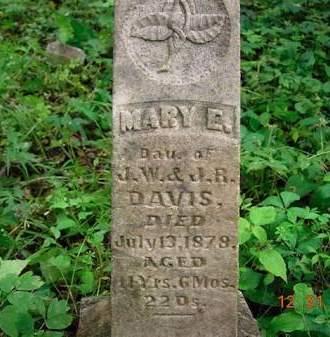 DAVIS, MARY E. - Monona County, Iowa   MARY E. DAVIS