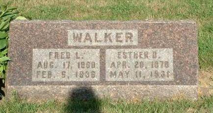 WALKER, FRED AND ESTHER (DAVIS) - Monona County, Iowa | FRED AND ESTHER (DAVIS) WALKER
