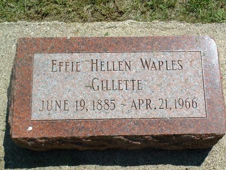 WAPLES GILLETTE, EFFIE HELLEN - Monona County, Iowa | EFFIE HELLEN WAPLES GILLETTE