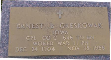GRESKOWAK, ERNEST B. - Monona County, Iowa | ERNEST B. GRESKOWAK