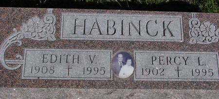 HABINCK, PERCY L. & EDITH - Monona County, Iowa | PERCY L. & EDITH HABINCK