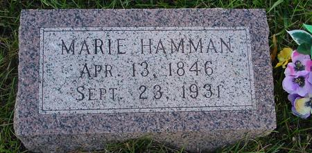HAMANN, MARIE - Monona County, Iowa | MARIE HAMANN