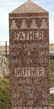 HASBROUCK, DAVID & CAROLINE - Monona County, Iowa   DAVID & CAROLINE HASBROUCK
