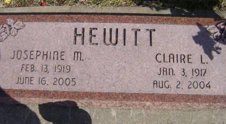 HEWITT, JOSEPHINE M - Monona County, Iowa | JOSEPHINE M HEWITT