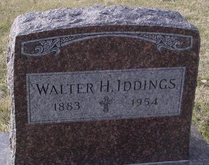 IDDINGS, WALTER H. - Monona County, Iowa   WALTER H. IDDINGS