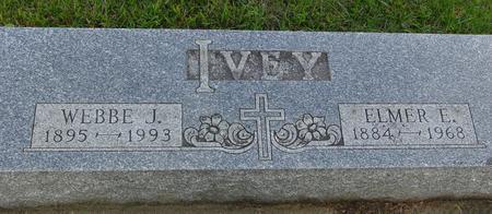 IVEY, ELMER E. & WEBBE - Monona County, Iowa   ELMER E. & WEBBE IVEY