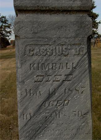 KIMBALL, CASSIUS D. - Monona County, Iowa | CASSIUS D. KIMBALL