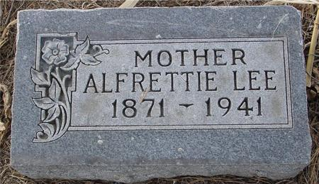 LEE, ALFRETTIE - Monona County, Iowa | ALFRETTIE LEE