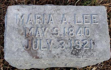 LEE, MARIA A. - Monona County, Iowa   MARIA A. LEE