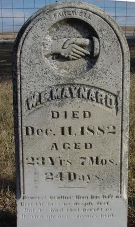 MAYNARD, W. E. - Monona County, Iowa | W. E. MAYNARD