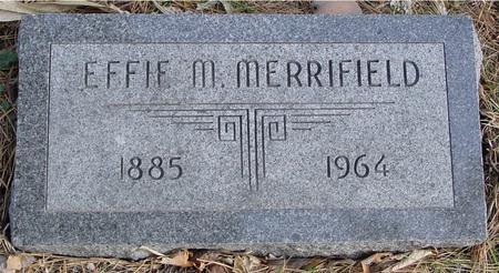MERRIFIELD, EFFIE M. - Monona County, Iowa | EFFIE M. MERRIFIELD