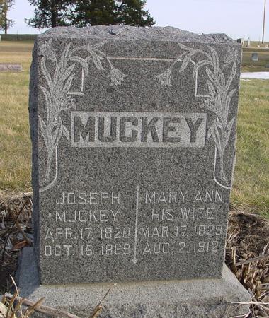 MUCKEY, JOSEPH & MARY ANN - Monona County, Iowa   JOSEPH & MARY ANN MUCKEY