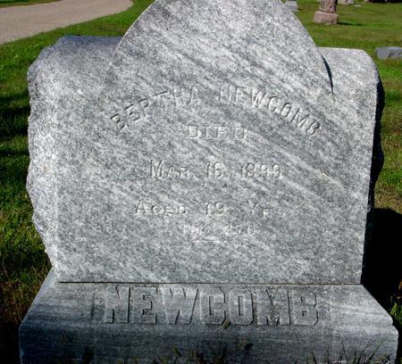NEWCOMB, BERTHA - Monona County, Iowa   BERTHA NEWCOMB