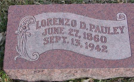 PAULEY, LORENZO D. - Monona County, Iowa   LORENZO D. PAULEY