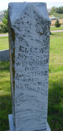 PROUSE, ELIZA - Monona County, Iowa   ELIZA PROUSE