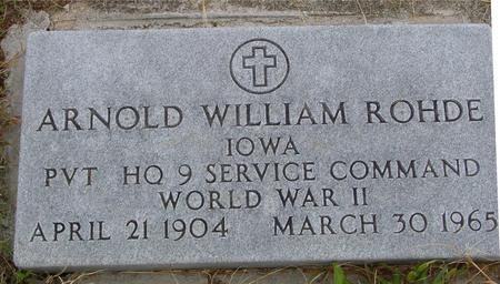 ROHDE, ARNOLD WILLIAM - Monona County, Iowa | ARNOLD WILLIAM ROHDE