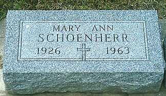 SCHOENHERR, MARY ANN - Monona County, Iowa   MARY ANN SCHOENHERR