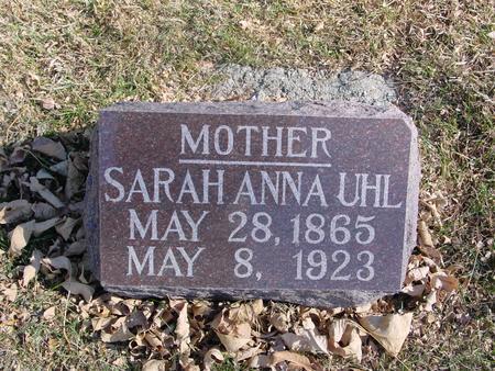UHL, SARAH ANN - Monona County, Iowa | SARAH ANN UHL