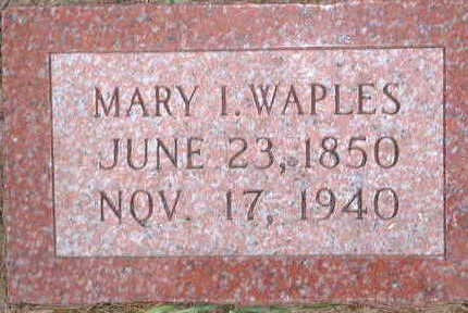 WAPLES, MARY ISABEL - Monona County, Iowa | MARY ISABEL WAPLES